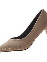 Недорогие -Жен. Полиуретан Весна На каждый день Обувь на каблуках На шпильке Заклепки Черный / Хаки