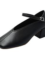 Недорогие -Жен. Полиуретан Весна На каждый день Обувь на каблуках Блочная пятка Черный / Хаки