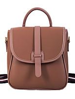 Недорогие -Жен. Мешки PU рюкзак Молнии Красный / Розовый / Пурпурный