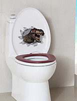 cheap -Cartoon Dinosaur Toilet Stickers - Animal Wall Stickers Animals Bathroom / Indoor