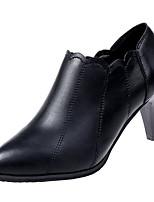 Недорогие -Жен. Полиуретан Весна Ботинки На шпильке Заостренный носок Черный