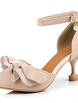 Недорогие -Жен. Искусственная кожа Весна лето Обувь на каблуках На каблуке-рюмочке Заостренный носок Черный / Розовый / Миндальный