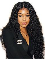 Недорогие -Натуральные волосы Лента спереди Парик стиль Бразильские волосы Бирманские волосы Глубокий курчавый Парик 130% Плотность волос Женский Лучшее качество Горячая распродажа Удобный Нейтральный Жен.