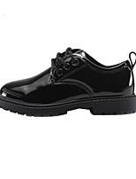 Недорогие -Мальчики / Девочки Обувь Лакированная кожа Весна & осень Удобная обувь Туфли на шнуровке для Для подростков Белый / Черный