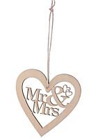 Недорогие -Орнаменты деревянный Свадебные украшения Свадьба / День рождения Свадьба / Сердце Все сезоны