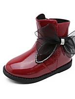 Недорогие -Девочки Обувь Микроволокно Зима Удобная обувь / Модная обувь Ботинки для Для подростков Черный / Красный