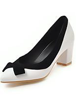Недорогие -Жен. Искусственная кожа Весна лето Обувь на каблуках На толстом каблуке Заостренный носок Черный / Лиловый / Розовый