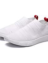 Недорогие -Муж. Комфортная обувь Tissage Volant Весна лето Спортивные Кеды Нескользкий Белый / Черный