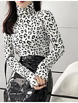 Недорогие -узкая женская футболка азиатского размера - сплошная цветная шея