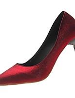Недорогие -Жен. Полиуретан Весна Обувь на каблуках На шпильке Заостренный носок Черный / Красный / Для вечеринки / ужина