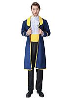 Недорогие -Прекрасный Принц Костюм для вечеринки Муж. Косплей из фильмов Синий Пальто Рубашка Брюки Хэллоуин Карнавал Маскарад Полиэстер