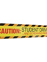 Недорогие -предостережение студент водитель автомобиля наклейки безопасности предупреждающий знак магнит светоотражающая наклейка