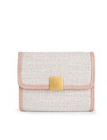 Недорогие -Жен. Мешки синтетика Бумажники Сплошной цвет Розовый / Бежевый / Серый