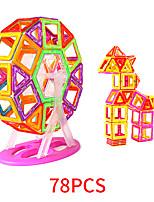 Недорогие -Магнитный конструктор Магнитные плитки 78 pcs Геометрический узор Все Мальчики Девочки Игрушки Подарок