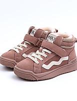Недорогие -Мальчики / Девочки Обувь Кожа Зима Удобная обувь Кеды для Дети Черный / Розовый