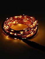 Недорогие -10 м Гирлянды 100 светодиоды Оранжевый Для вечеринок 220-240 V 1 комплект