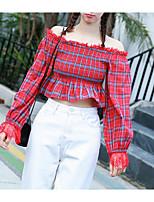 Недорогие -женская праздничная футболка азиатского размера - с плеча