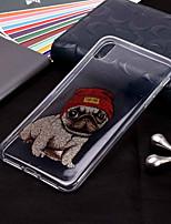 Недорогие -Кейс для Назначение Apple iPhone XR / iPhone XS Max С узором / Сияние и блеск Кейс на заднюю панель С собакой Мягкий ТПУ для iPhone XS / iPhone XR / iPhone XS Max