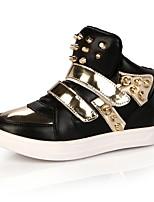Недорогие -Девочки Обувь Полиуретан Весна & осень Удобная обувь Ботинки для Дети / Для подростков Белый / Черный