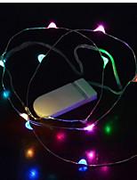 Недорогие -1m Гирлянды 10 светодиоды 2835 SMD 1 x диммерный переключатель Тёплый белый USB / Для вечеринок / Декоративная Аккумуляторы 15шт