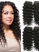 Недорогие -4 Связки Бразильские волосы Монгольские волосы Крупные кудри Не подвергавшиеся окрашиванию Необработанные натуральные волосы Человека ткет Волосы One Pack Solution Накладки из натуральных волос 8-28