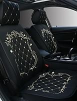 Недорогие -ODEER Подушечки на автокресло Подушки для сидений Черный / розовый / Черное золото / Черный / Белый текстильный Общий Назначение Универсальный Все года Все модели