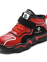 Недорогие -Мальчики Обувь Полиуретан Зима Удобная обувь Спортивная обувь Беговая обувь для Дети / Для подростков Черный / Красный