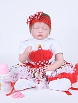 Недорогие -Куклы реборн Кукла для девочек Девочки 22 дюймовый как живой Очаровательный Дети / подростки Детские Универсальные Игрушки Подарок