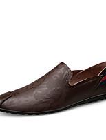 Недорогие -Муж. Комфортная обувь Полиуретан Весна На каждый день Мокасины и Свитер Нескользкий Черный / Коричневый / Синий
