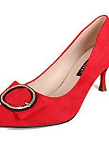 Недорогие -Жен. Полиуретан Весна На каждый день Обувь на каблуках На каблуке-рюмочке Заостренный носок Черный / Бежевый / Красный