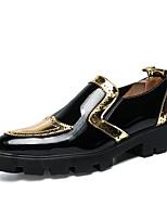 Недорогие -Муж. Комфортная обувь Полиуретан Весна лето На каждый день Мокасины и Свитер Нескользкий Контрастных цветов Золотой / Черный