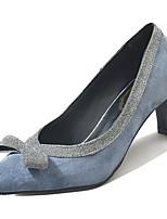 Недорогие -Жен. Полиуретан Весна На каждый день Обувь на каблуках На толстом каблуке Бант Черный / Синий