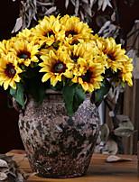 Недорогие -Искусственные Цветы 6 Филиал Классический Деревня Пастораль Стиль Подсолнухи Букеты на стол