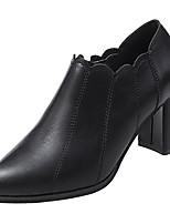 Недорогие -Жен. Полиуретан Весна На каждый день Ботинки На толстом каблуке Черный