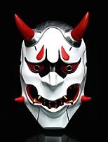 Недорогие -Косплей Японская маска Хання Омен Ужас / Рождество Белый Резина Для вечеринок Косплэй аксессуары Рождество / Карнавал / Маскарад костюмы