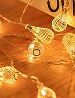 Недорогие -2м Гирлянды 10 светодиоды Желтый Для вечеринок / Декоративная 5 V 1 комплект