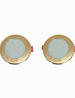 Недорогие -2pcs 5 W 360 lm 10 Светодиодные бусины Простая установка Встроенные LED даунлайт Тёплый белый Холодный белый 220-240 V Дом / офис Гостиная / столовая