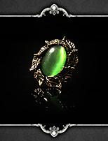 Недорогие -Vampire Dracula Steampunk Муж. и жен. Готика Лист Регулируемое кольцо Назначение Для вечеринок День рождения Маскарад 1 кольцо Бижутерия Зеленый