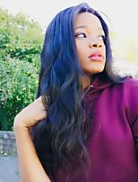 Недорогие -человеческие волосы Remy Полностью ленточные Лента спереди Парик Бразильские волосы Волнистые Парик Стрижка боб 130% 150% 180% Плотность волос Модный дизайн Мягкость Женский Удобный вьющийся