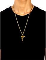 Недорогие -Муж. Ожерелья с подвесками - Золотой, Серебряный 23.622 дюймовый Ожерелье Бижутерия 1шт Назначение Повседневные