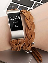 Недорогие -Ремешок для часов для Fitbit Charge 2 Fitbit Классическая застежка Натуральная кожа Повязка на запястье
