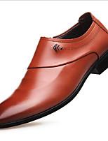 Недорогие -Муж. Официальная обувь Кожа Весна & осень Мокасины и Свитер Черный / Коричневый
