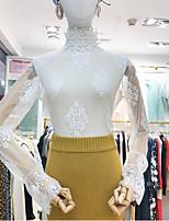 Недорогие -женская футболка азиатского размера - сплошная цветная горловина