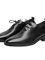 Недорогие -Муж. Комфортная обувь Микроволокно Весна & осень Туфли на шнуровке Черный