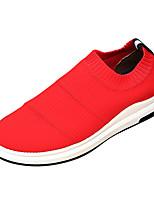 Недорогие -Муж. Комфортная обувь Эластичная ткань / Tissage Volant Лето На каждый день Мокасины и Свитер Нескользкий Черный / Серый / Красный