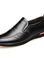 Недорогие -Муж. Комфортная обувь Микроволокно Весна & осень Мокасины и Свитер Черный / Коричневый