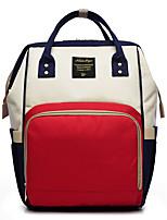 Недорогие -Жен. Мешки холст рюкзак Молнии Красный / Розовый / Лиловый
