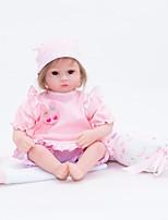 Недорогие -FeelWind Куклы реборн Кукла для девочек Девочки 18 дюймовый Полный силикон для тела Силикон Винил - как живой Ручная Pабота Очаровательный Безопасно для детей Дети / подростки Non Toxic Детские