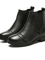 Недорогие -Девочки Обувь Кожа Наступила зима Удобная обувь / Армейские ботинки Ботинки для Для подростков Черный / Коричневый