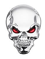 Недорогие -Banggood 3d демон череп металлические наклейки кости эмблема значок отличительные знаки для автомобиля грузовик